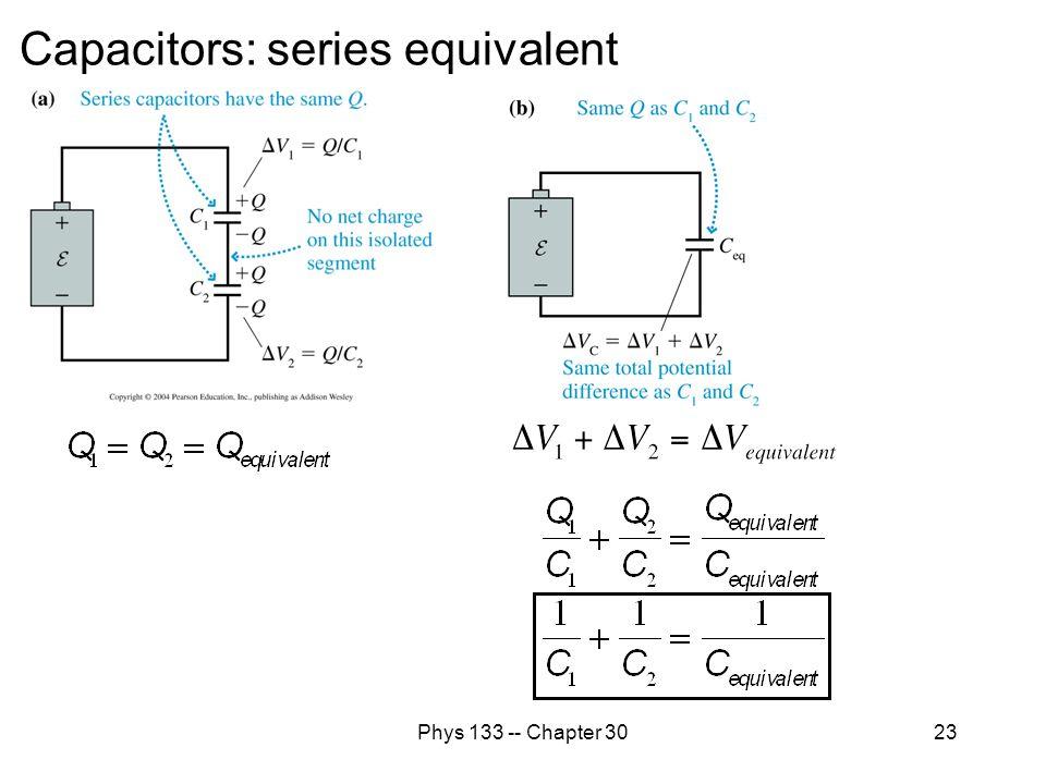 Capacitors: series equivalent