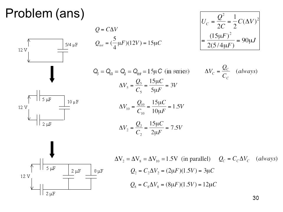 Problem (ans) Phys 133 -- Chapter 30