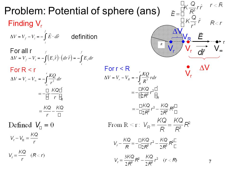 Problem: Potential of sphere (ans)