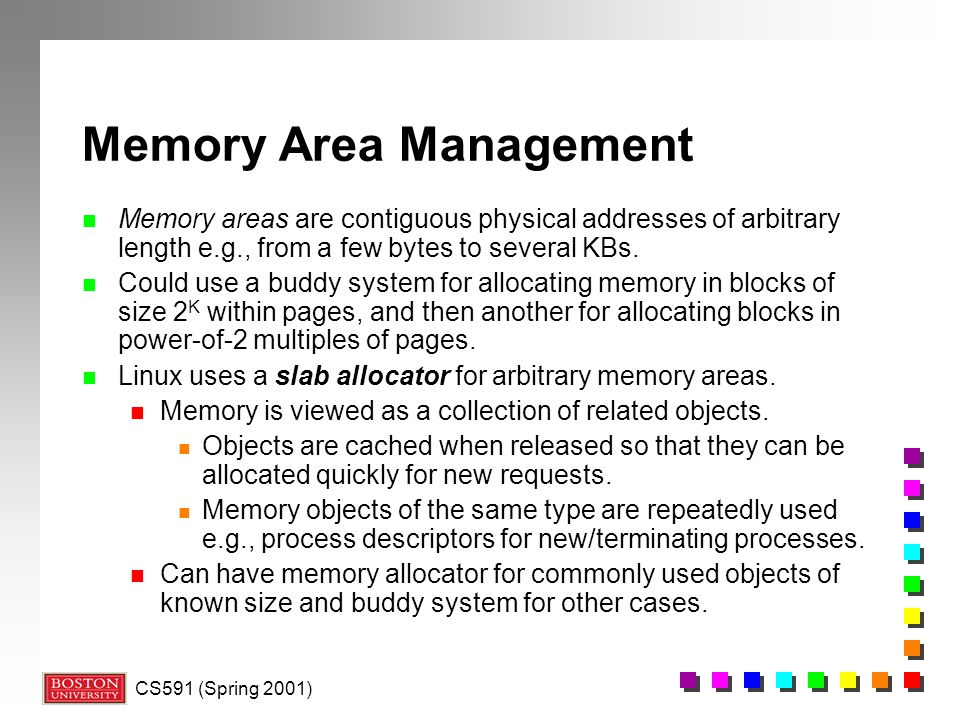 Memory Area Management