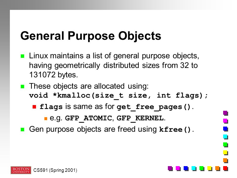 General Purpose Objects
