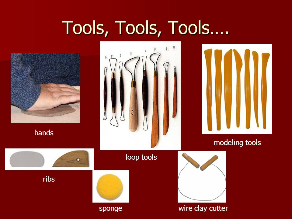 Tools, Tools, Tools…. hands modeling tools loop tools ribs sponge