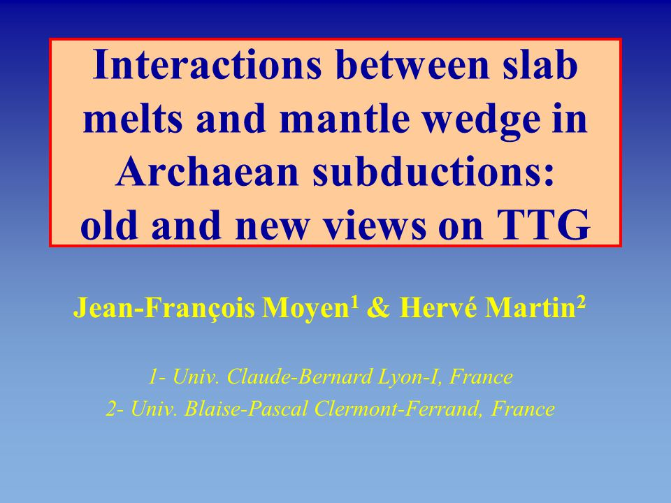 Interactions between slab melts and mantle wedge in Archaean subductions: old and new views on TTG