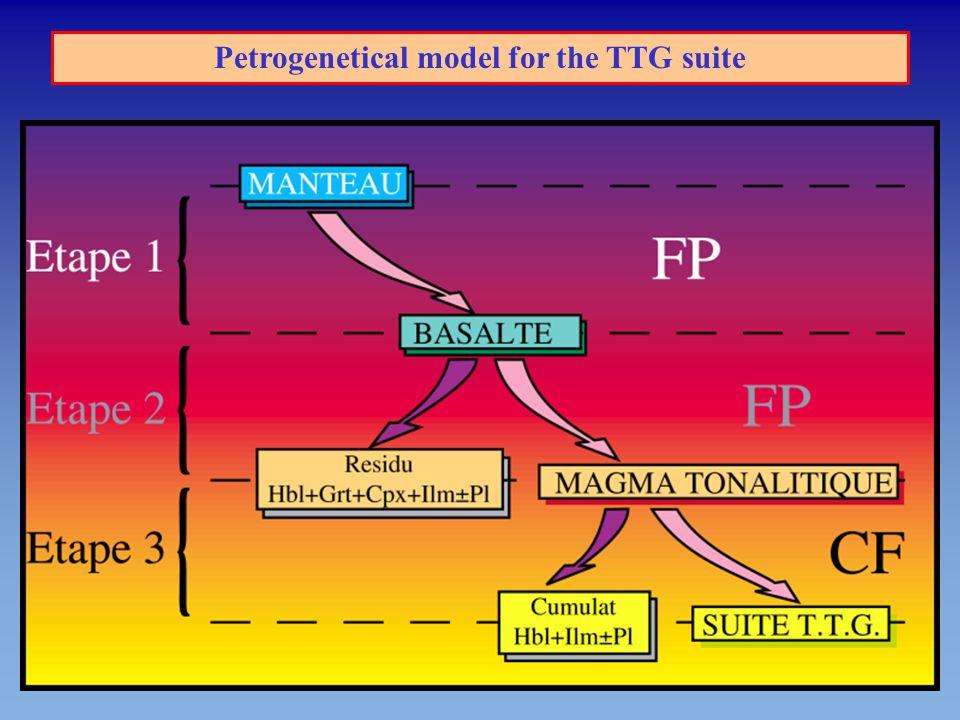 Petrogenetical model for the TTG suite