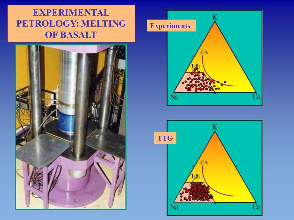 EXPERIMENTAL PETROLOGY: MELTING OF BASALT