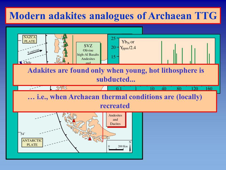 Modern adakites analogues of Archaean TTG