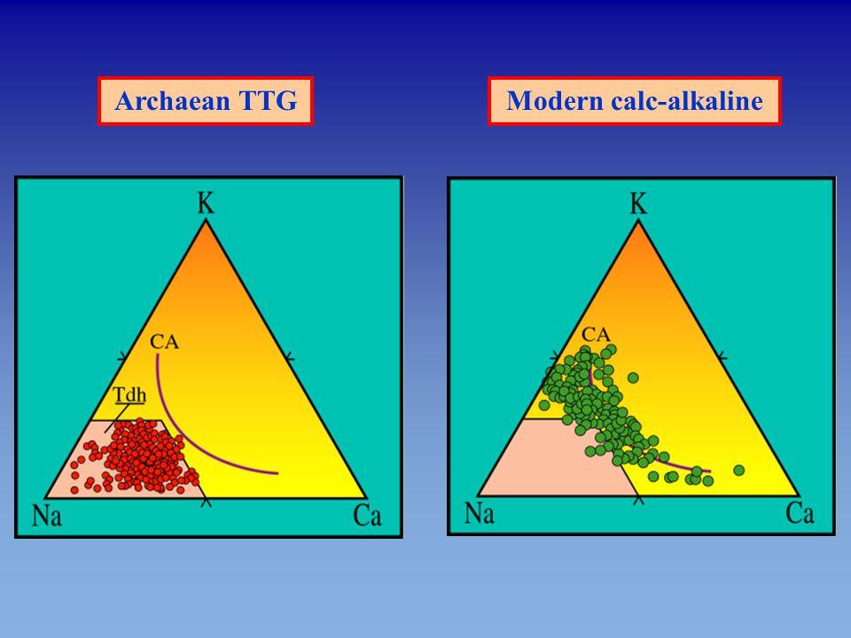 Archaean TTG Modern calc-alkaline