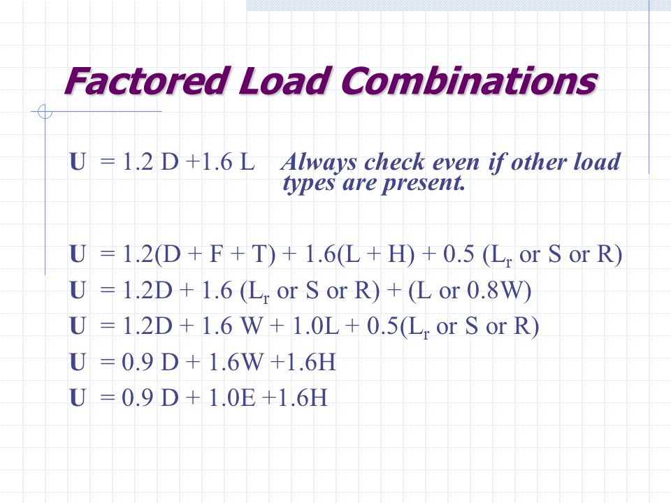 Factored Load Combinations