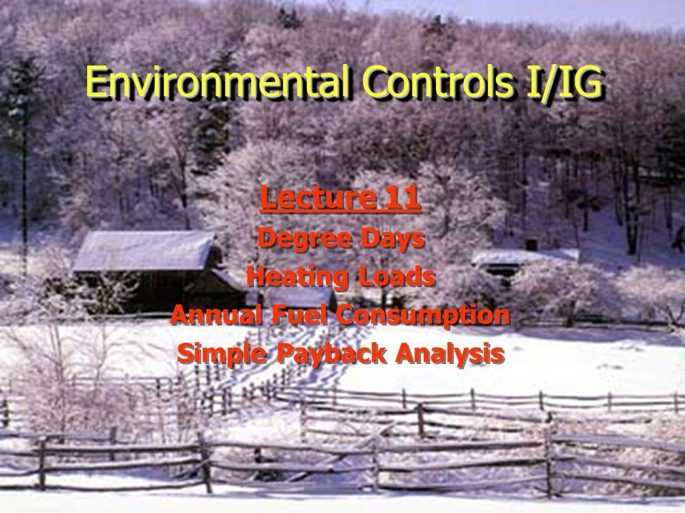 Environmental Controls I/IG