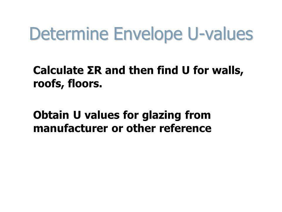 Determine Envelope U-values