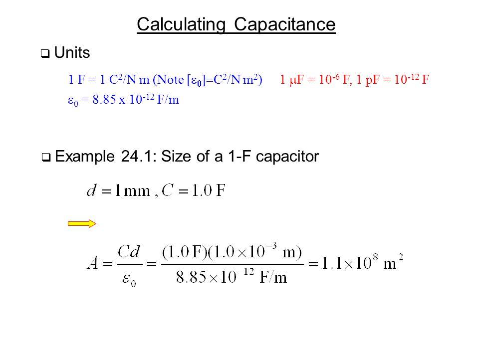 Calculating Capacitance