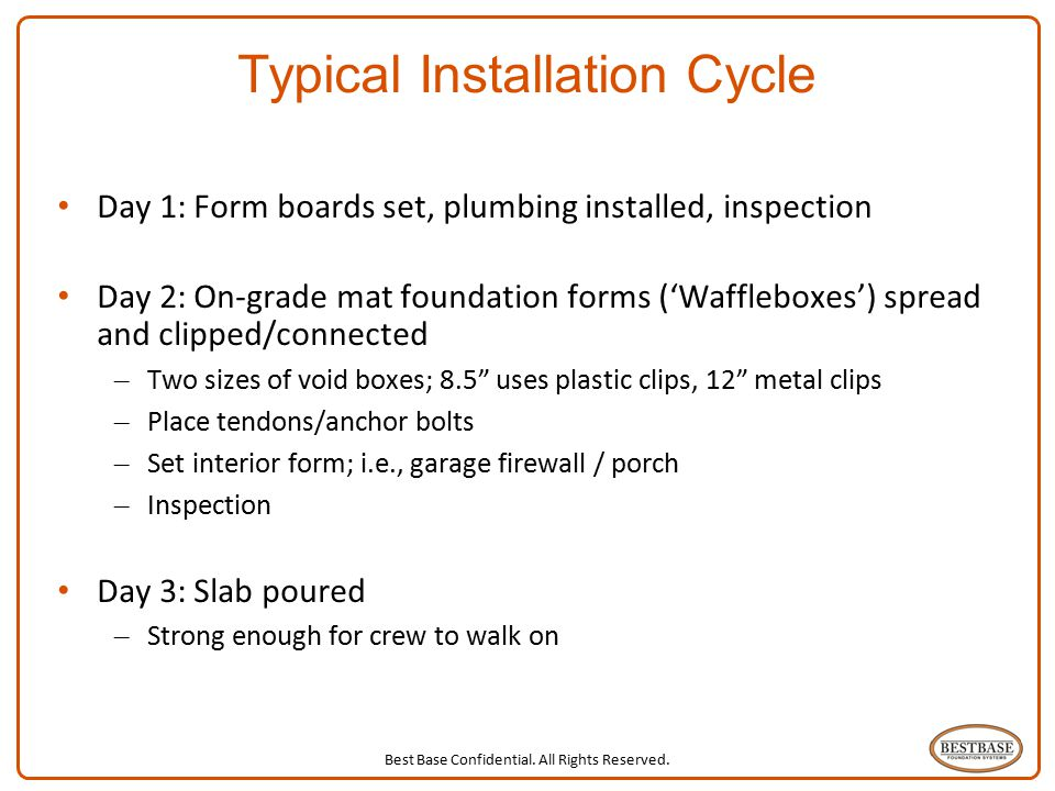 Typical Installation Cycle
