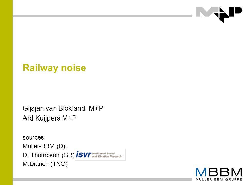 Railway noise Gijsjan van Blokland M+P Ard Kuijpers M+P sources: