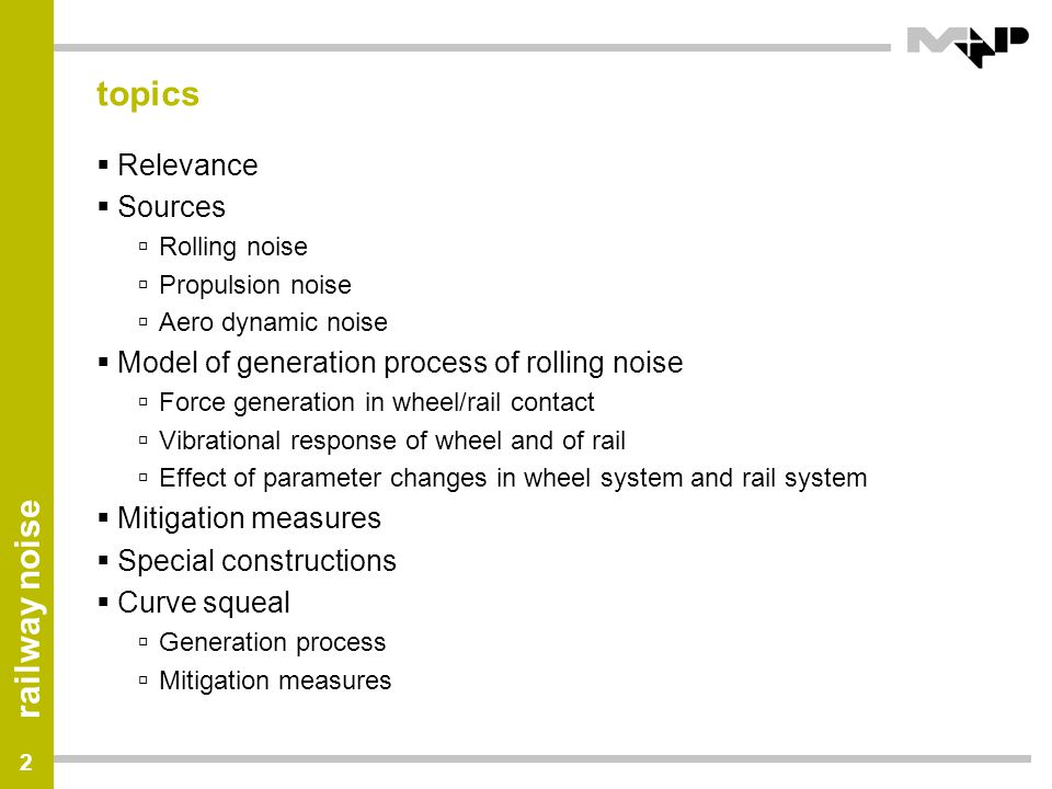 topics Relevance Sources Model of generation process of rolling noise
