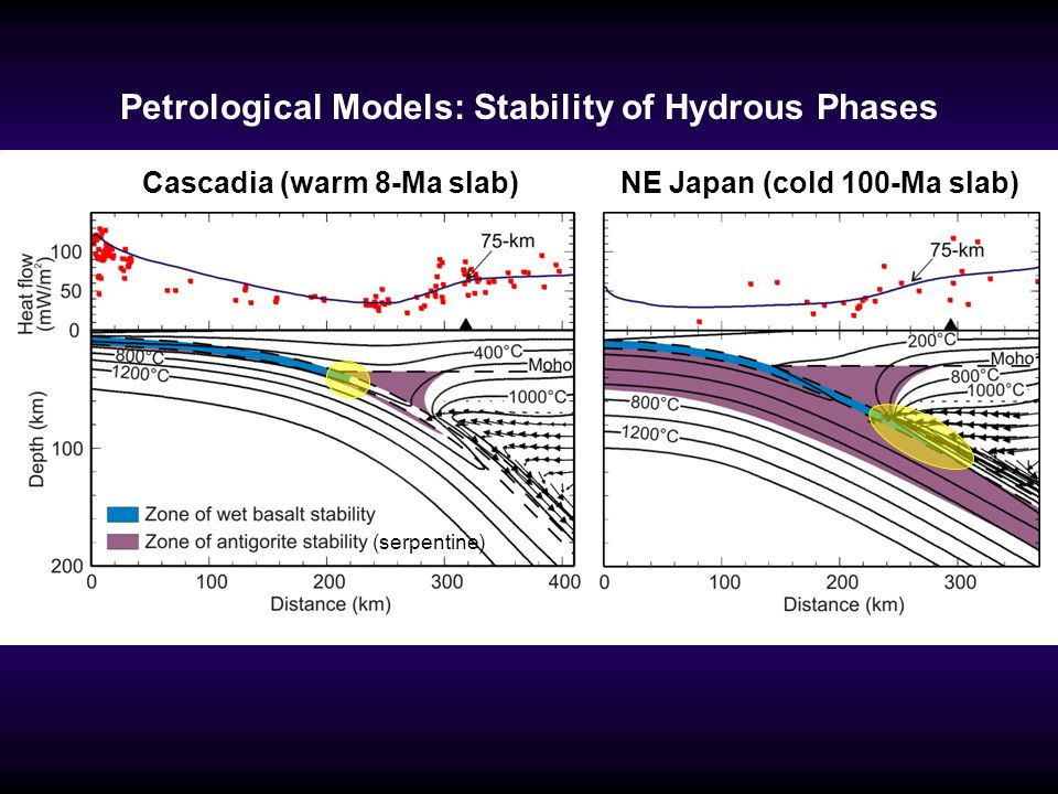 Petrological Models: Stability of Hydrous Phases