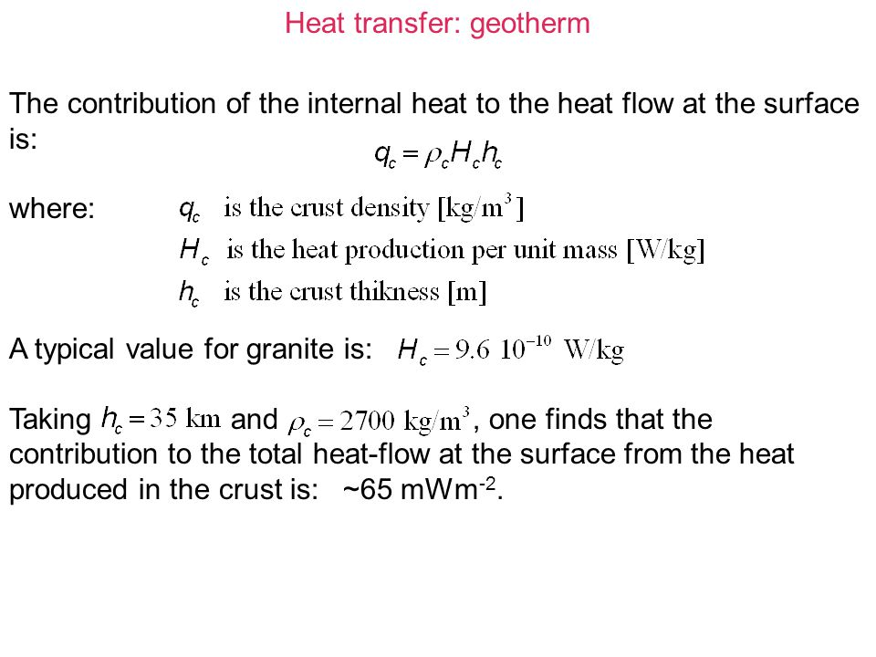 Heat transfer: geotherm