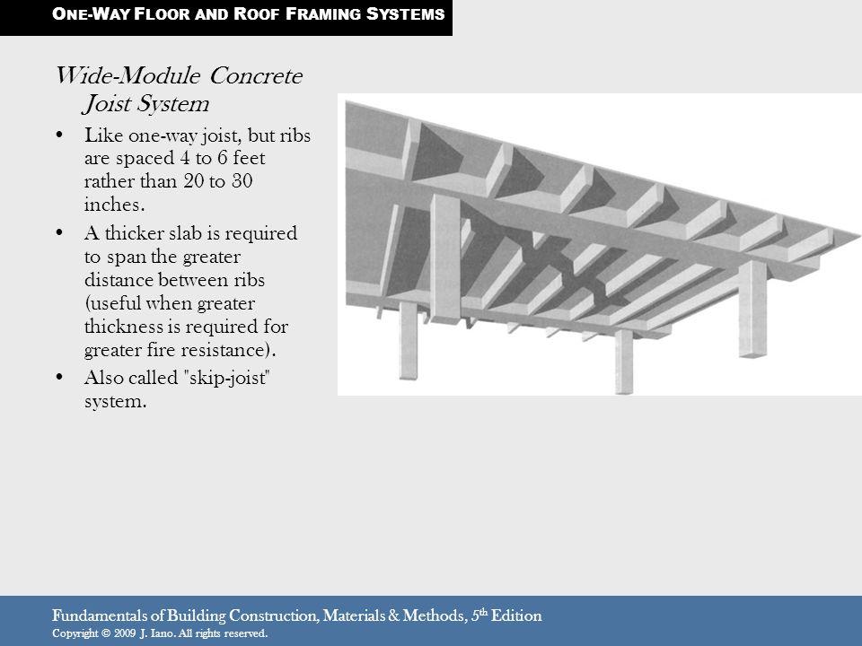 Wide-Module Concrete Joist System