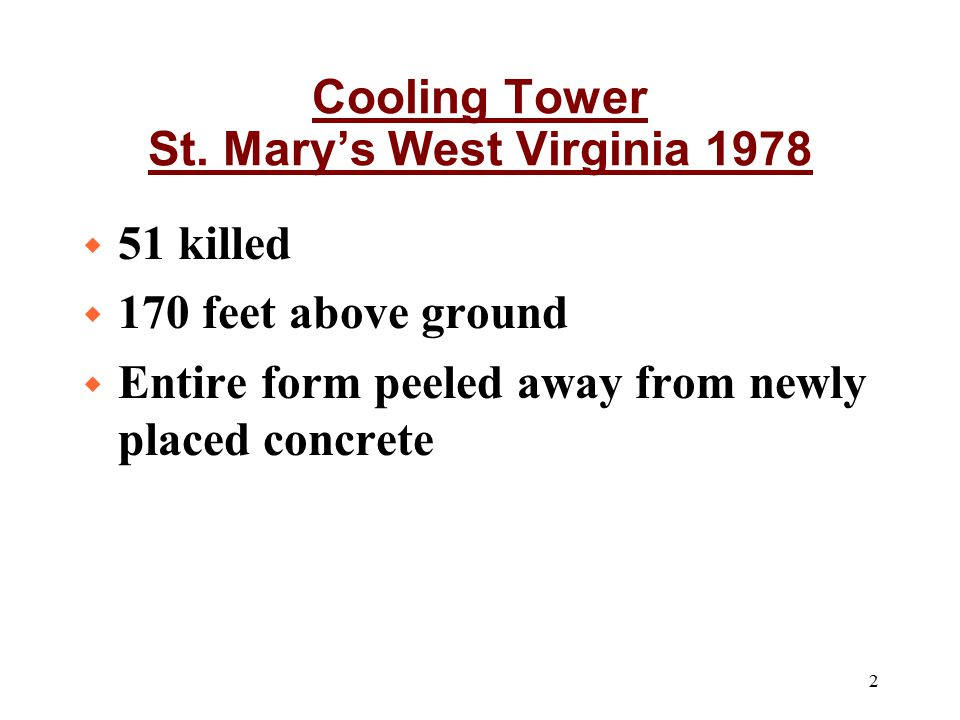 Cooling Tower St. Mary's West Virginia 1978