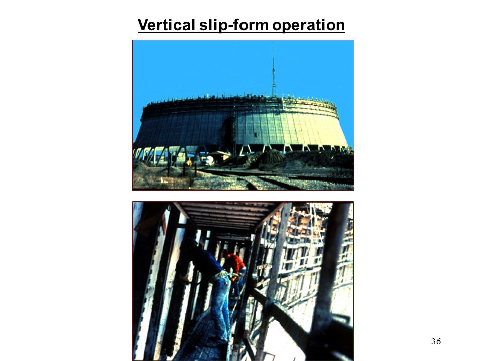 Vertical slip-form operation