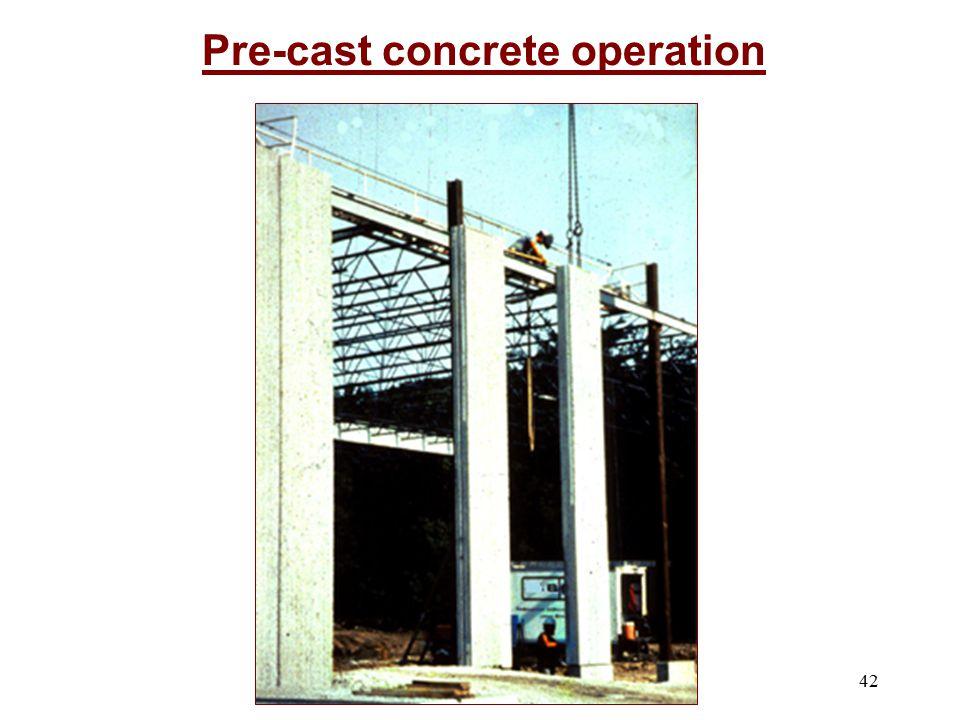 Pre-cast concrete operation