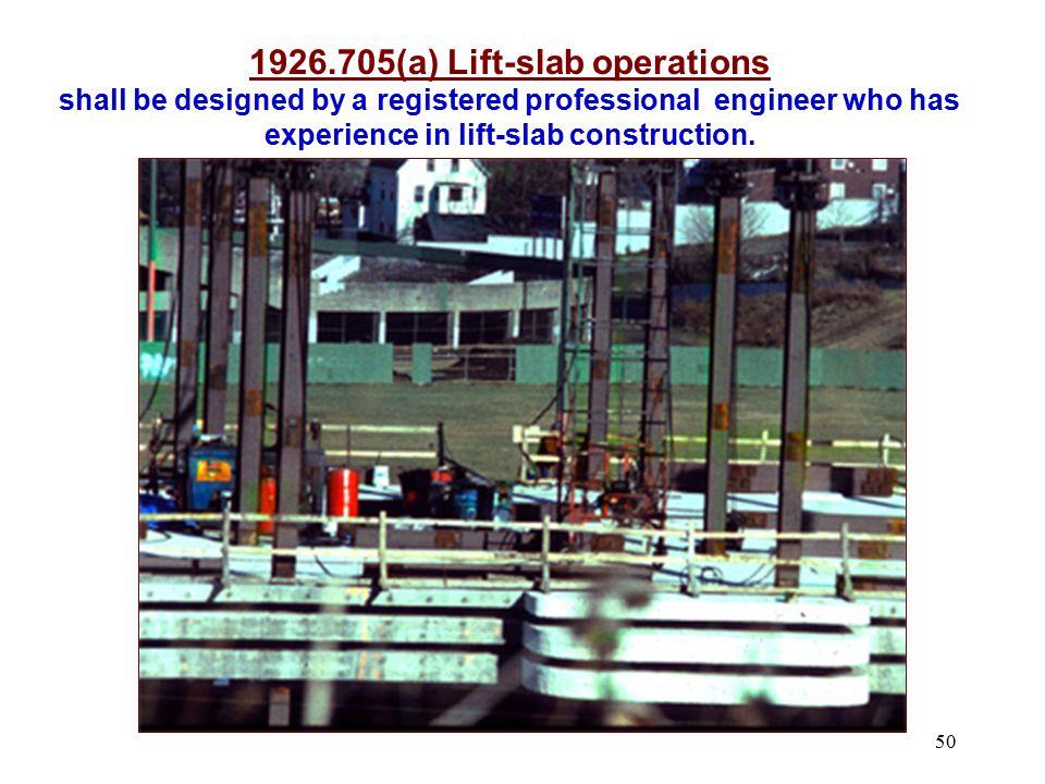 1926.705(a) Lift-slab operations