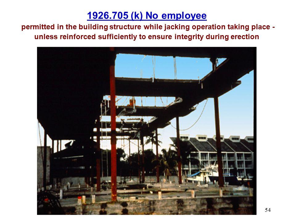 1926.705 (k) No employee