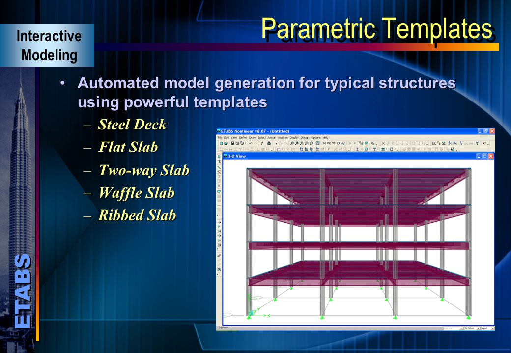 Parametric Templates Interactive Modeling