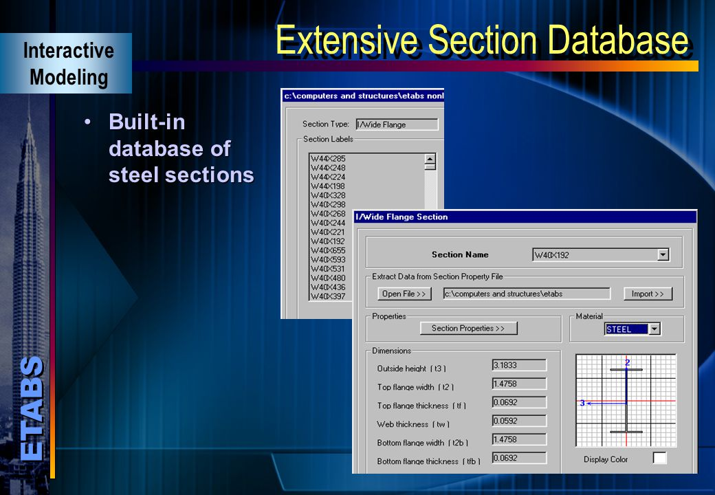 Extensive Section Database