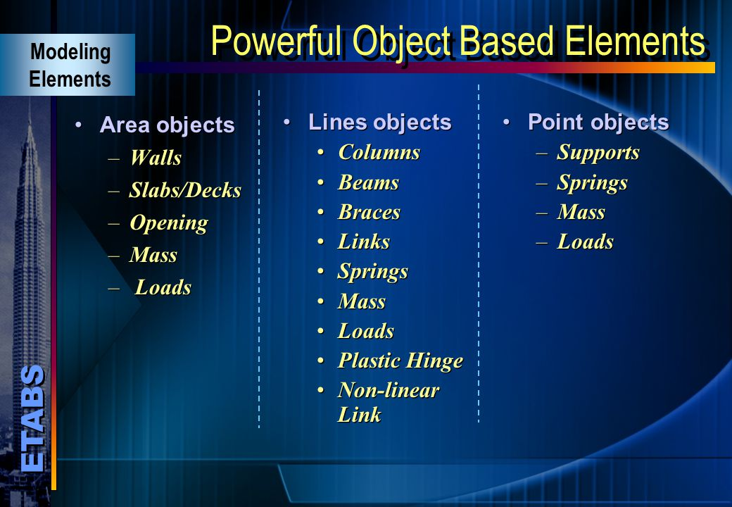 Powerful Object Based Elements