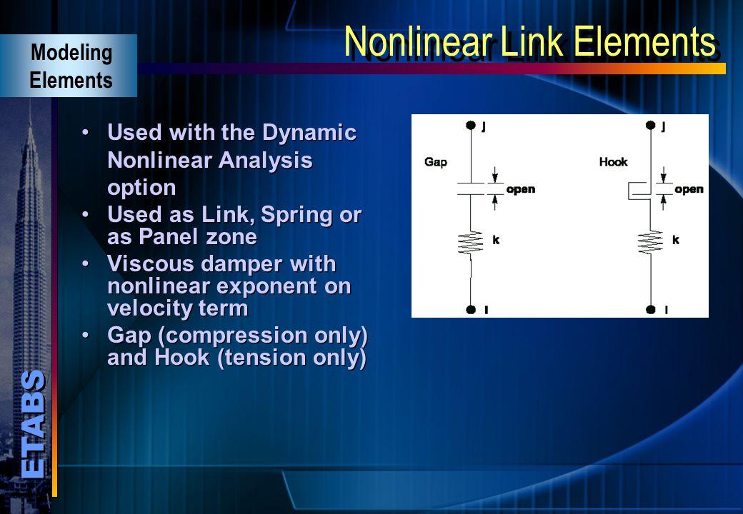 Nonlinear Link Elements