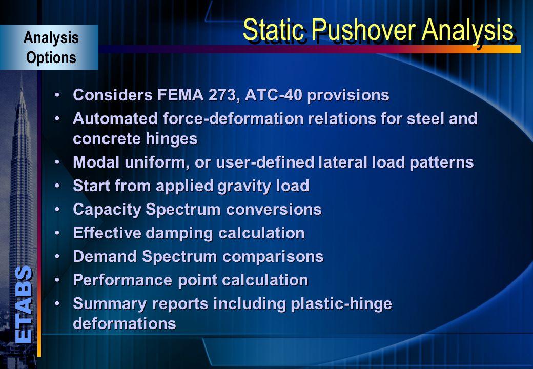 Static Pushover Analysis