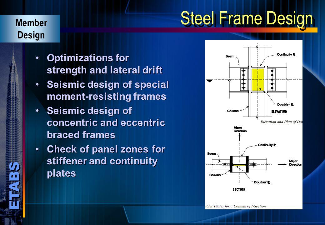 Steel Frame Design Member Design
