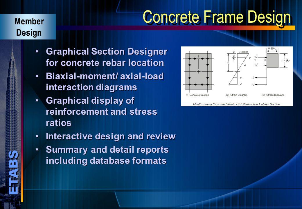Concrete Frame Design Member Design