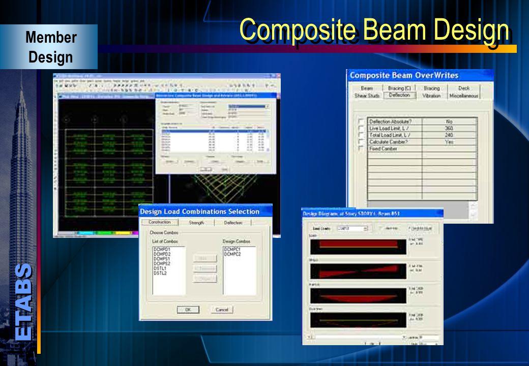 Composite Beam Design Member Design