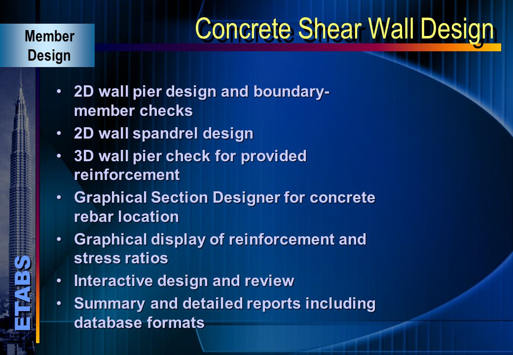 Concrete Shear Wall Design