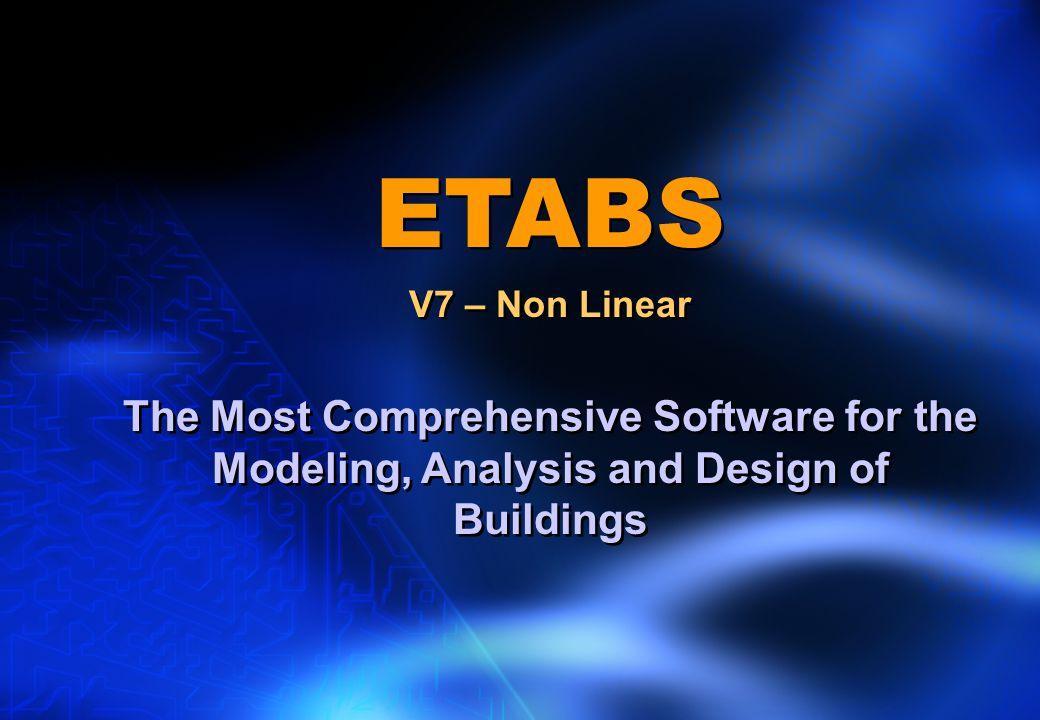ETABS V7 – Non Linear.