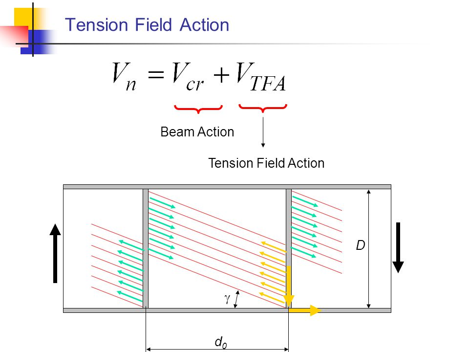 Tension Field Action Beam Action Tension Field Action D g d0