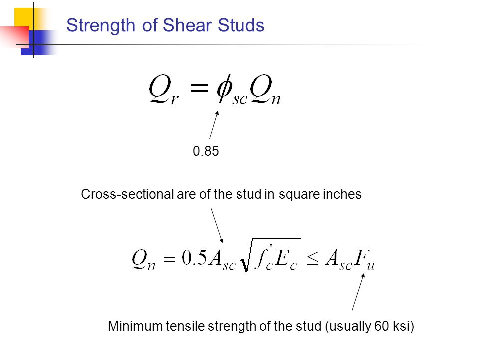 Strength of Shear Studs