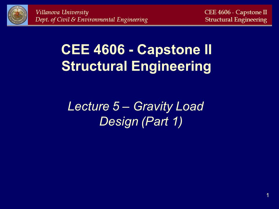 CEE 4606 - Capstone II Structural Engineering
