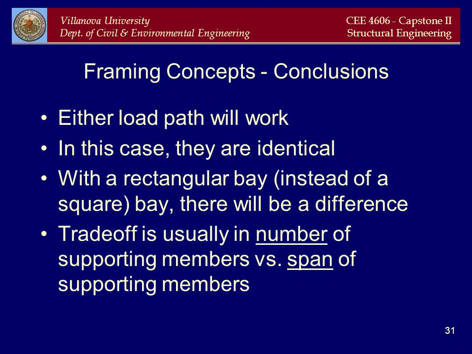 Framing Concepts - Conclusions