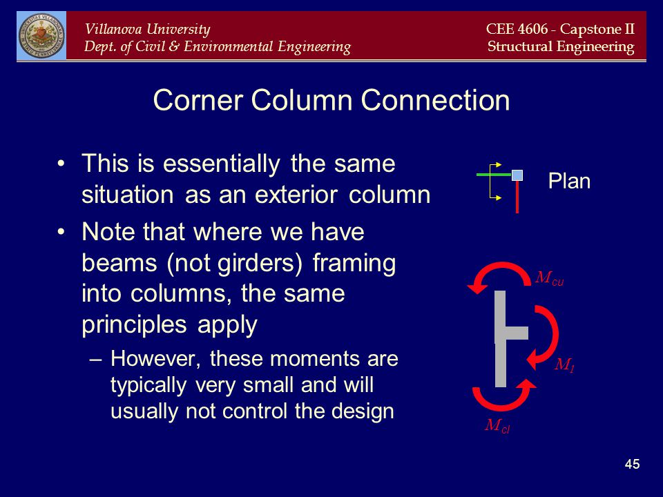 Corner Column Connection