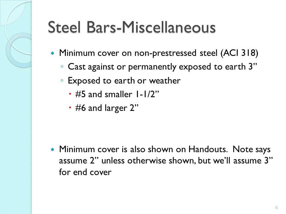Steel Bars-Miscellaneous