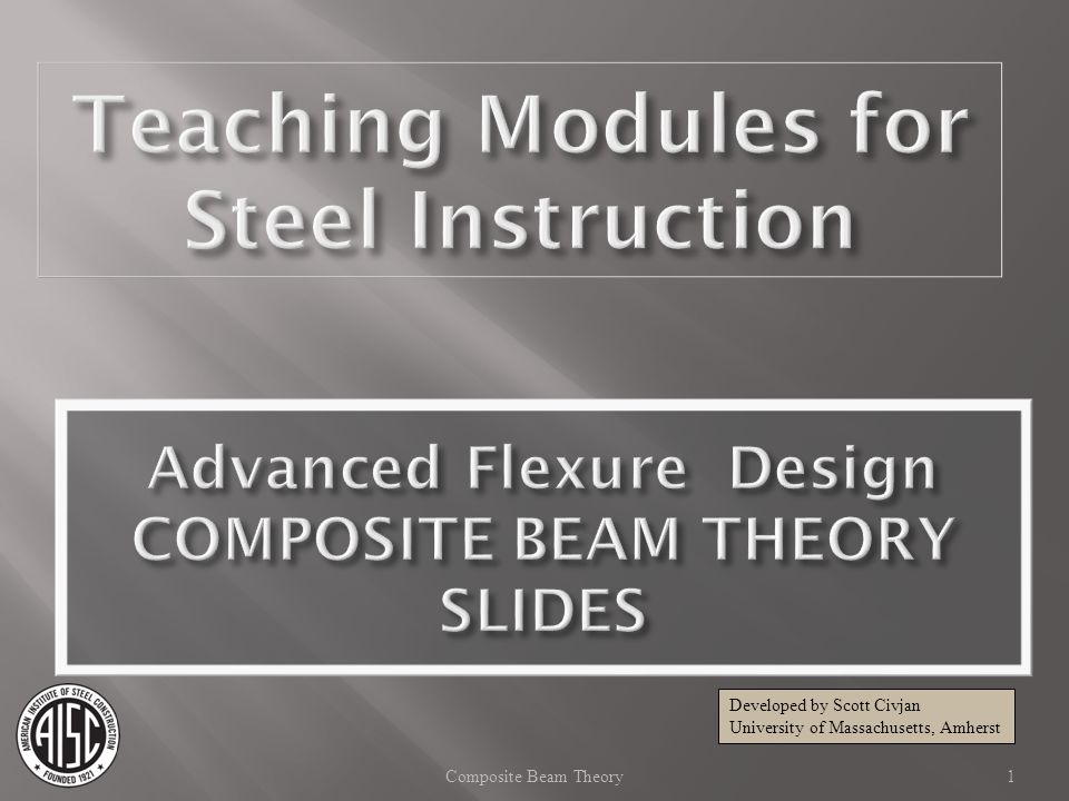Advanced Flexure Design COMPOSITE BEAM THEORY SLIDES
