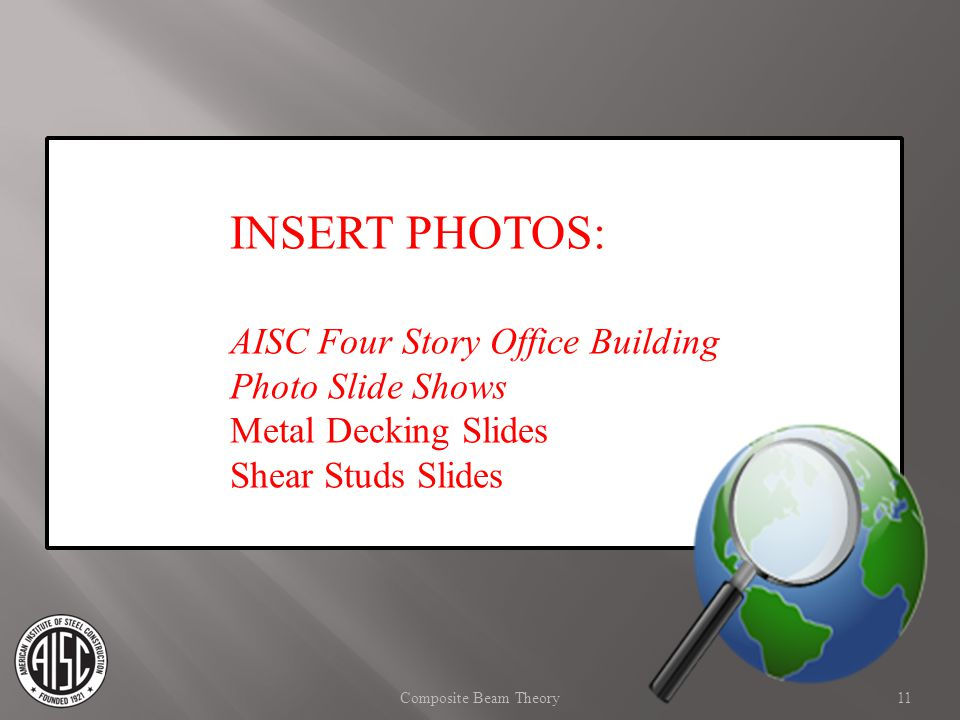 INSERT PHOTOS: AISC Four Story Office Building Photo Slide Shows