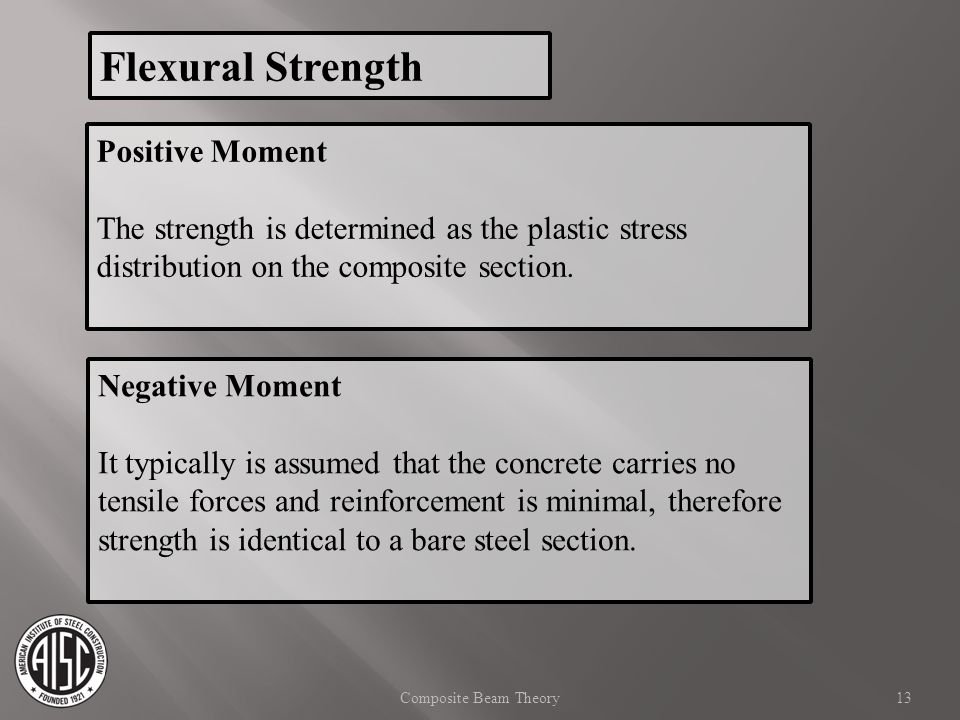 Flexural Strength Positive Moment