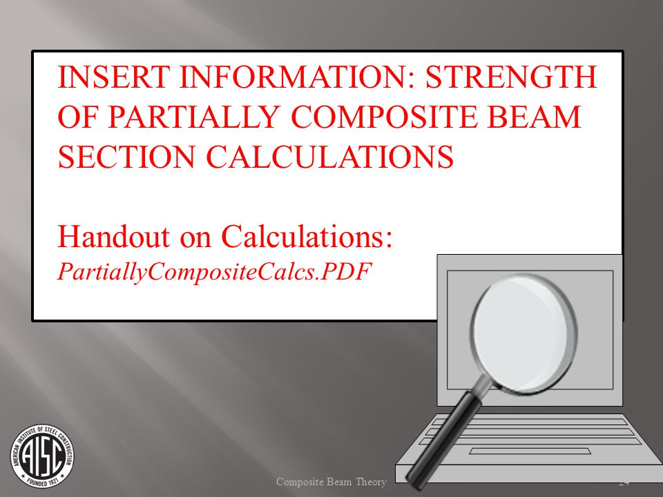 Handout on Calculations:
