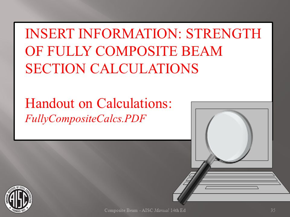 Composite Beam - AISC Manual 14th Ed