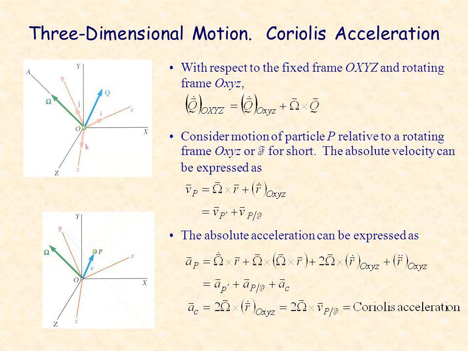 Three-Dimensional Motion. Coriolis Acceleration