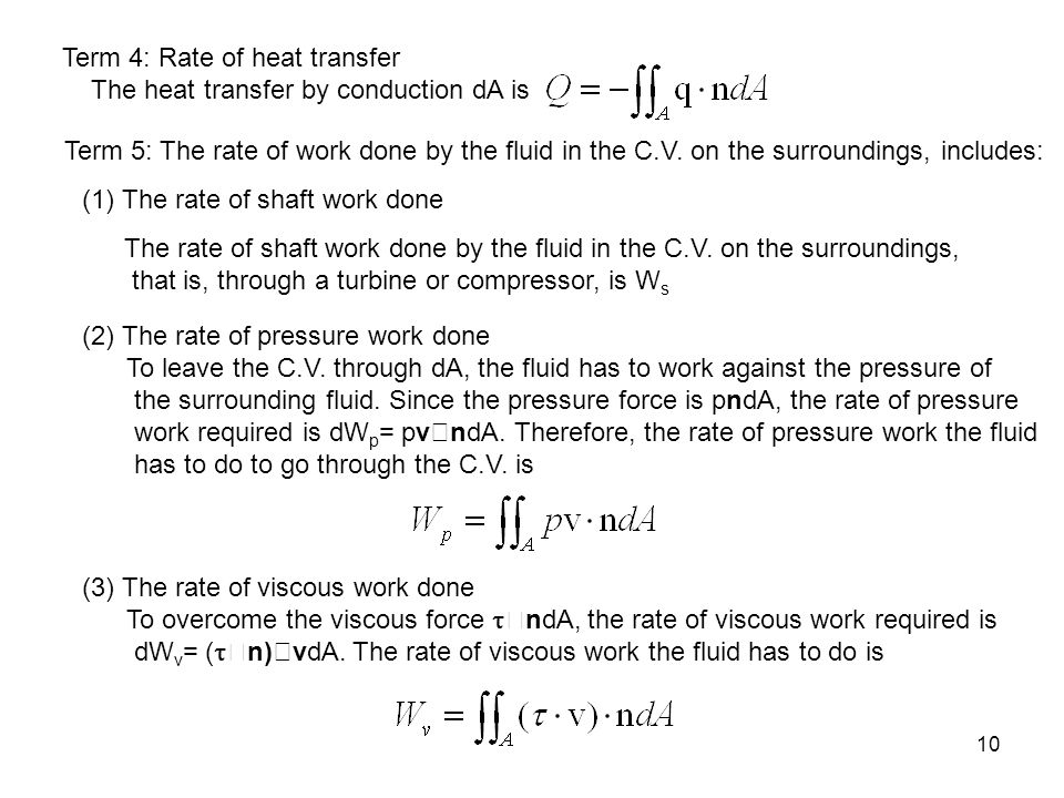 Term 4: Rate of heat transfer