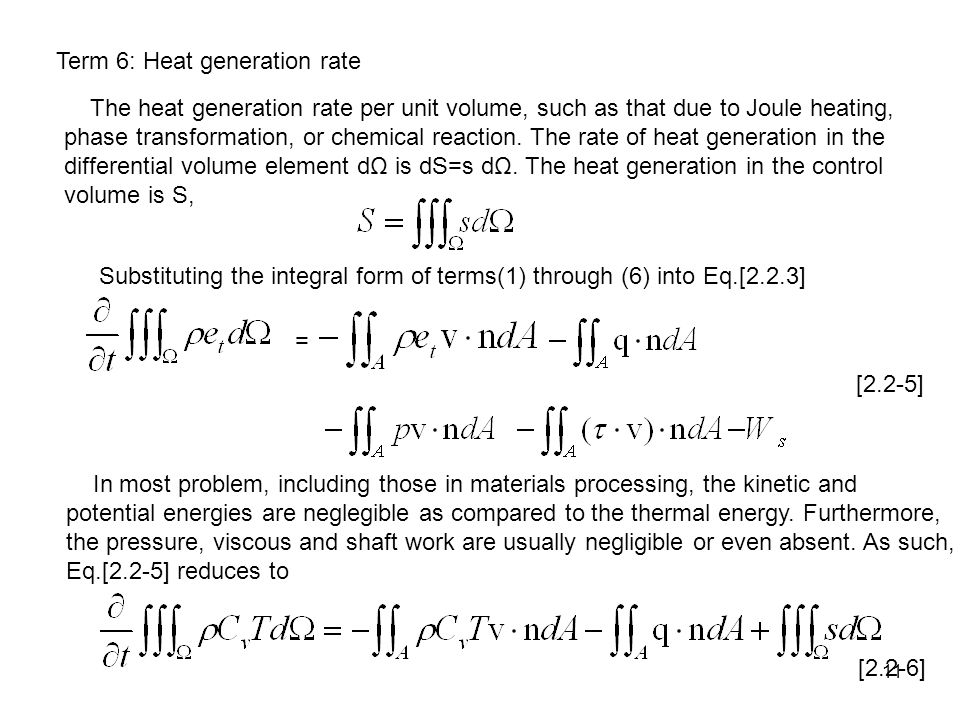 Term 6: Heat generation rate